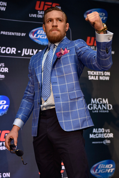 McGregor poses at Toronto press conference