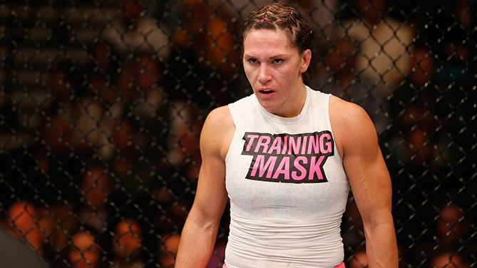 Zingano before her bout at UFC 178