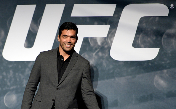 LAS VEGAS, NEVADA - NOVEMBER 17: UFC middleweight Lyoto Machida interacts with the crowd during the UFC Time Is Now press conference at The Smith Center for the Performing Arts on November 17, 2014 in Las Vegas, Nevada. (Photo by Jeff Bottari/Zuffa LLC/Zuffa LLC via Getty Images)