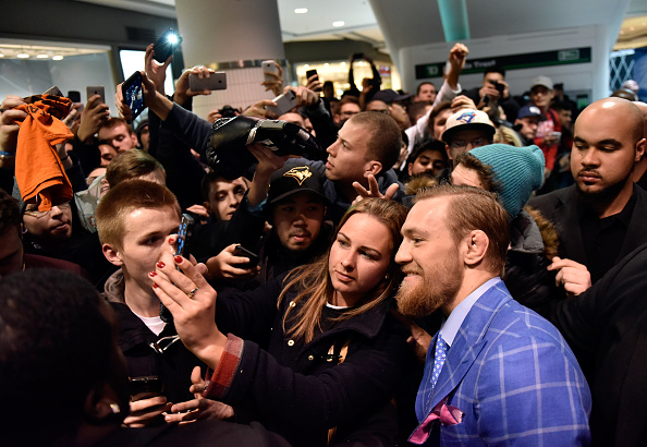 McGregor signs autographs and takes pictures with fans in Toronto