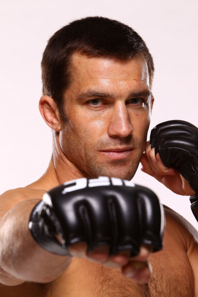 DULUTH, GA - JANUARY 15: Luke Rockhold poses for a portrait following his victory against Costas Philippou during the UFC Fight Night event inside The Arena at Gwinnett Center on January 15, 2014 in Duluth, Georgia. (Photo by Mike Roach/Zuffa LLC/Zuffa LLC via Getty Images)