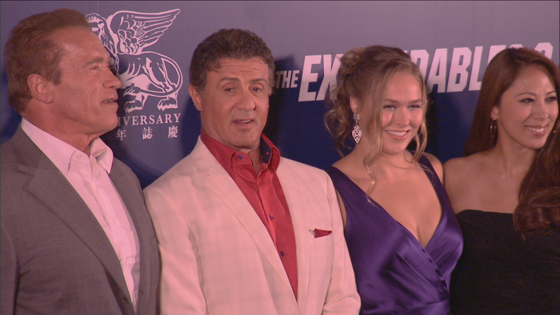 Rousey at the Expendables premiere in Macao