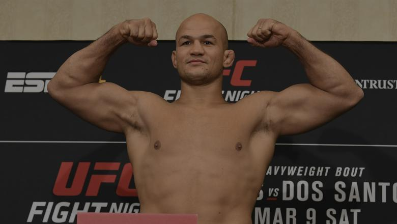 Junior Dos Santos steps on the scales at UFC Wichita Official Weigh-Ins