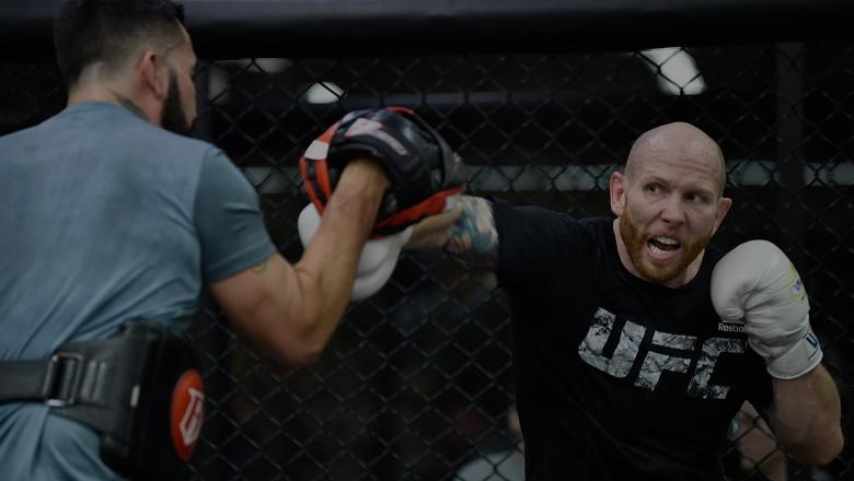 ORLANDO, FL - FEBRUARY 21: Josh Emmett holds an open workout for fans and media at UFC GYM Orlando on February 21, 2018 in Orlando, Florida. (Photo by Jeff Bottari/Zuffa LLC/Zuffa LLC via Getty Images)
