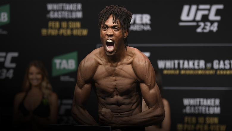 MELBOURNE, AUSTRALIA - FEBRUARY 09: Jalin Turner weighs in during the UFC 234 weigh-in at Rod Laver Arena on February 09, 2019 in the Melbourne Australia. (Photo by Jeff Bottari/Zuffa LLC/Zuffa LLC via Getty Images)