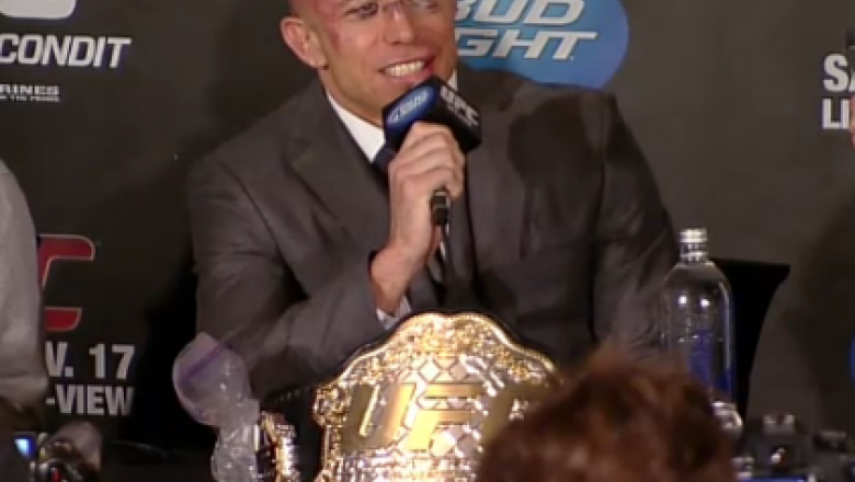 Georges St-Pierre discussed his welterweight title unification win after UFC 154