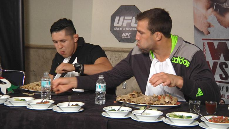 Erik Perez and Luke Rockhold Participate in Taco Eating Contest