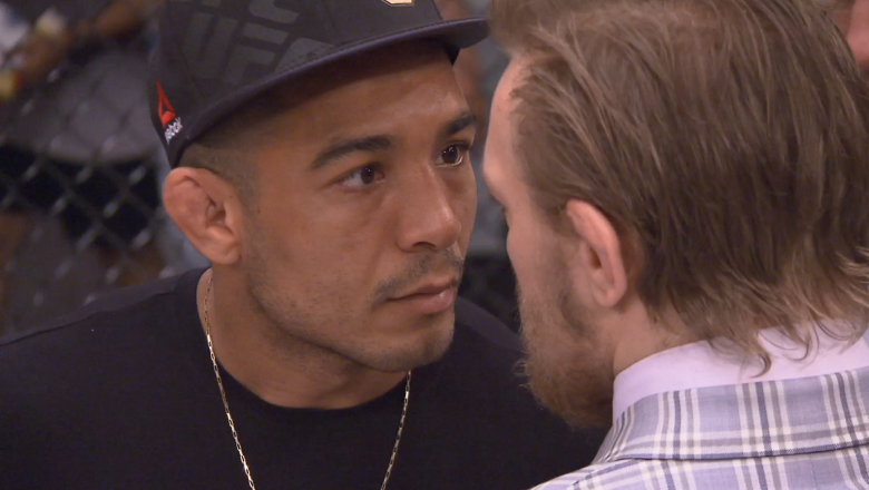 Jose Aldo and Conor McGregor face off at The Ultimate Fighter