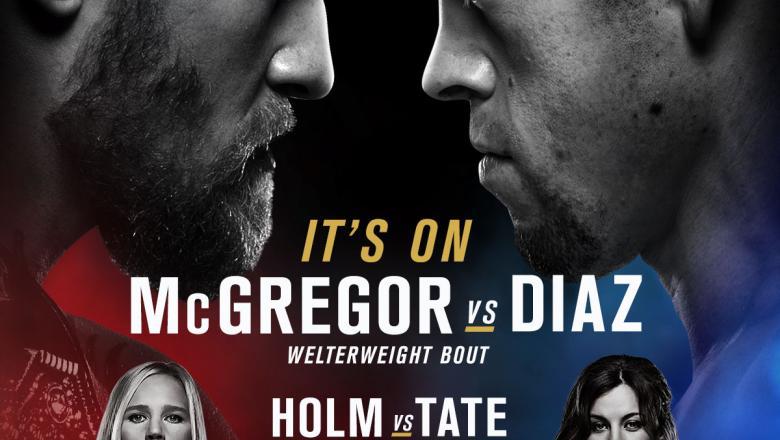Nate Diaz Conor McGregor Holly Holm Miesha Tate UFC 196 event poster
