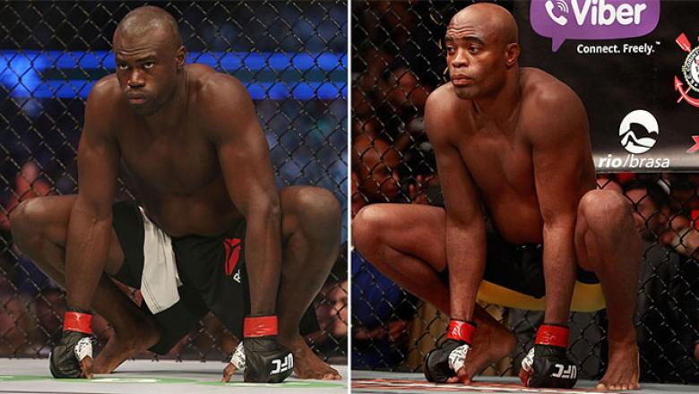 Uriah Hall (left) and Anderson Silva.