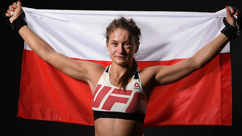 ATLANTA, GA - JULY 30:  Karolina Kowalkiewicz poses for a post fight portrait backstage during the UFC 201 event on July 30, 2016 at Philips Arena in Atlanta, Georgia. (Photo by Mike Roach/Zuffa LLC/Zuffa LLC via Getty Images)