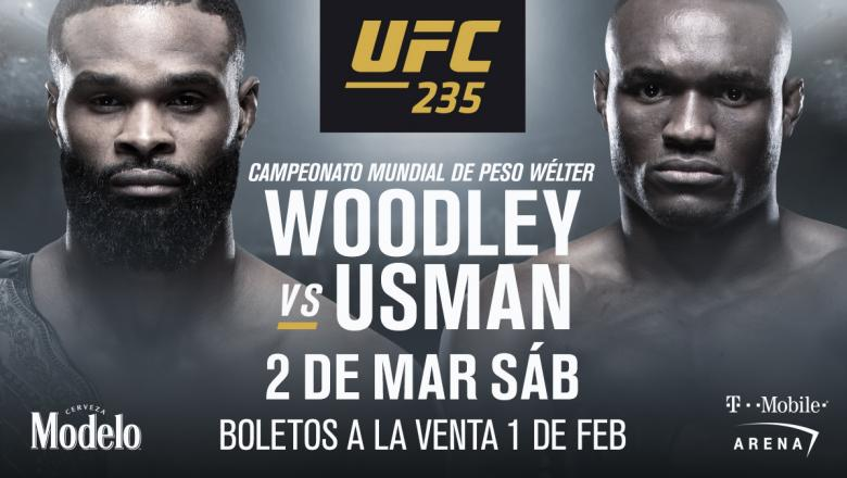 UFC 235 co-estelar Woodley vs Usman
