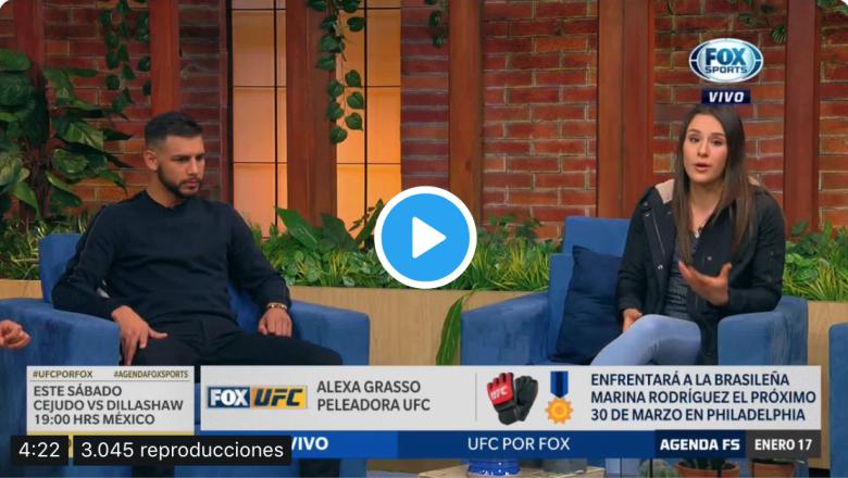 Yair Rodriguez y Alexa Grasso en Agenda FOX Sports Mexico