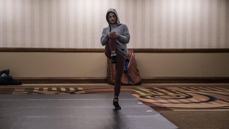3 Cynthia Calvillo training in UFC Phoenix