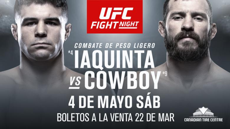 UFC Ottawa Iaquinta vs Cowboy spanish anuncio