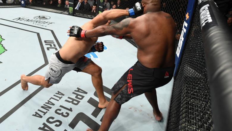 Junior Dos Santos hits Derrick Lewis UFC Wichita