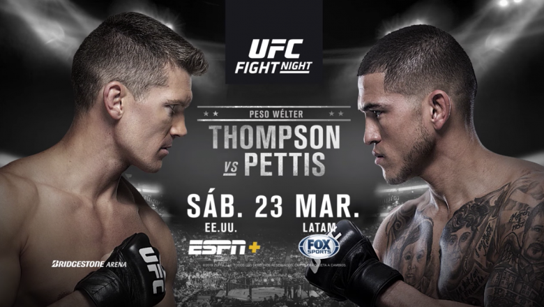 UFC Nashville Thompson vs Pettis spanish endslate