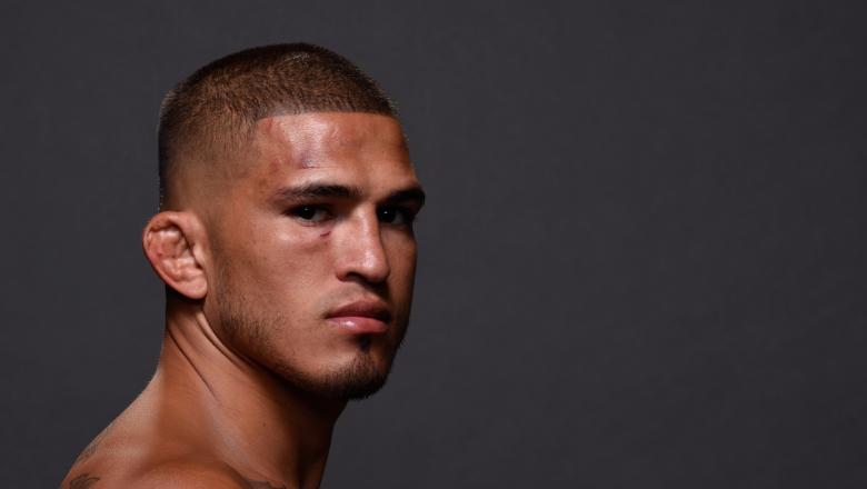 HERO - Anthony Pettis poses for a portrait backstage during the UFC 226