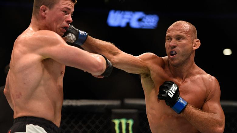 LAS VEGAS, NV - AUGUST 20:  Donald Cerrone fights Rick Story in their welterweight bout during the UFC 202 event at T-Mobile Arena on August 20, 2016 in Las Vegas, Nevada.  (Photo by Jeff Bottari/Zuffa LLC/Zuffa LLC via Getty Images)
