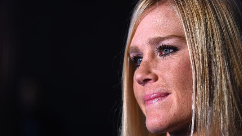 BROOKLYN, NY - FEBRUARY 08: Holly Holm interacts with the media during the UFC 208 Ultimate Media Day at the Barclays Center on February 8, 2017 in Brooklyn, New York. (Photo by Jeff Bottari/Zuffa LLC/Zuffa LLC via Getty Images)