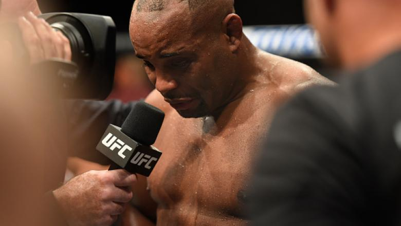 ANAHEIM, CA - JULY 29:  Daniel Cormier speaks after being defeated by Jon Jones in their UFC light heavyweight championship bout during the UFC 214 event at Honda Center on July 29, 2017 in Anaheim, California.  (Photo by Josh Hedges/Zuffa LLC/Zuffa LLC v