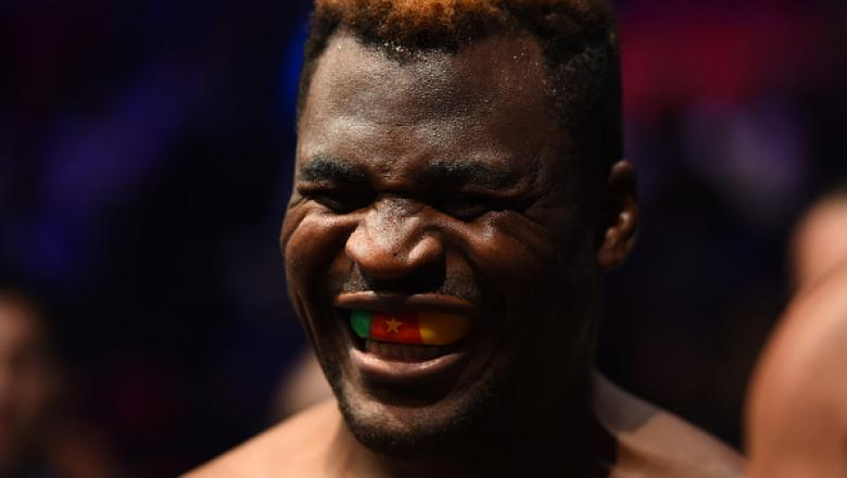 DETROIT, MI - DECEMBER 02:  Francis Ngannou of Cameroon prepares to enter the Octagon prior to facing Alistair Overeem of The Netherlands in their heavyweight bout during the UFC 218 event inside Little Caesars Arena on December 02, 2017 in Detroit, Michi