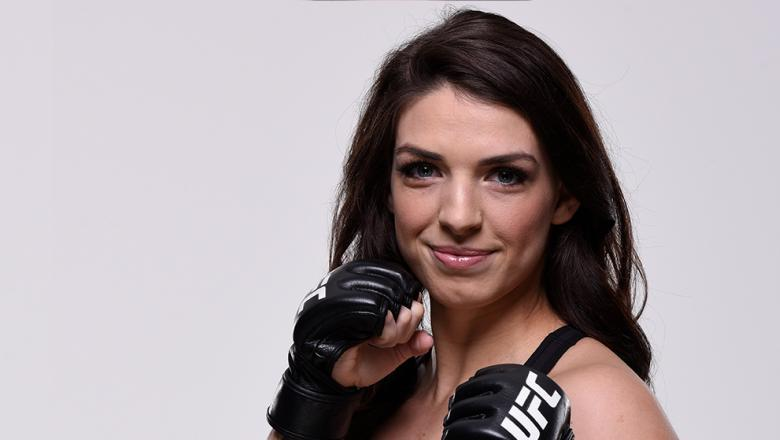 LAS VEGAS, NV - FEBRUARY 28:  Mackenzie Dern of Brazil poses for a portrait during a UFC photo session on February 28, 2018 in Las Vegas, Nevada. (Photo by Mike Roach/Zuffa LLC/Zuffa LLC via Getty Images)