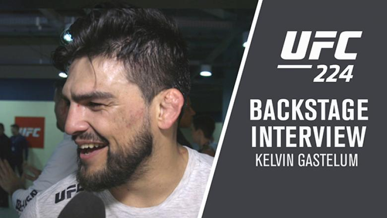 Middleweight Kelvin Gastelum discusses his split-decision victory over Jacare Souza at UFC 224