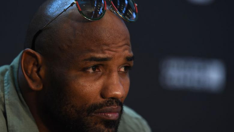CHICAGO, ILLINOIS - JUNE 07:   Yoel Romero of Cuba interacts with media during the UFC 225 Ultimate Media Day at the United Center on June 7, 2018 in Chicago, Illinois. (Photo by Josh Hedges/Zuffa LLC/Zuffa LLC via Getty Images)