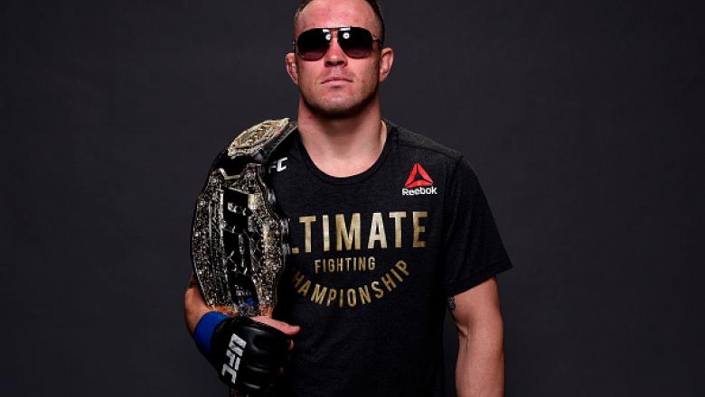 CHICAGO, ILLINOIS - JUNE 09:  UFC interim welterweight champion Colby Covington poses for a post fight portrait backstage during the UFC 225 event at the United Center on June 9, 2018 in Chicago, Illinois. (Photo by Mike Roach/Zuffa LLC/Zuffa LLC via Gett