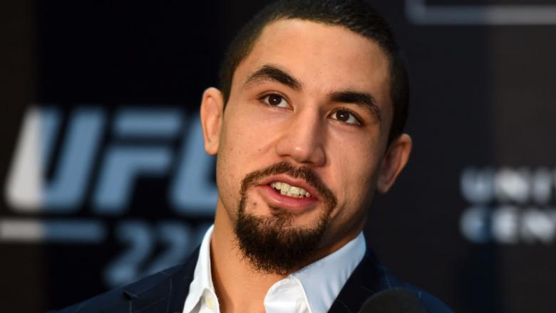 CHICAGO, ILLINOIS - JUNE 07:   Robert Whittaker of New Zealand interacts with media during the UFC 225 Ultimate Media Day at the United Center on June 7, 2018 in Chicago, Illinois. (Photo by Josh Hedges/Zuffa LLC/Zuffa LLC via Getty Images)