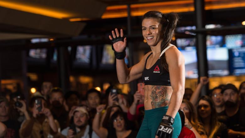 Claudia Gadelha open workout