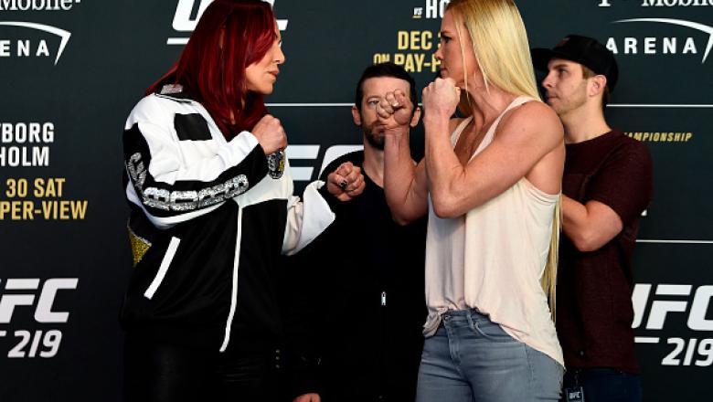 As estrelas do UFC 219 ficaram frente a frente durante o Media Day do evento que acontece nesse sábado (30), em Las Vegas.