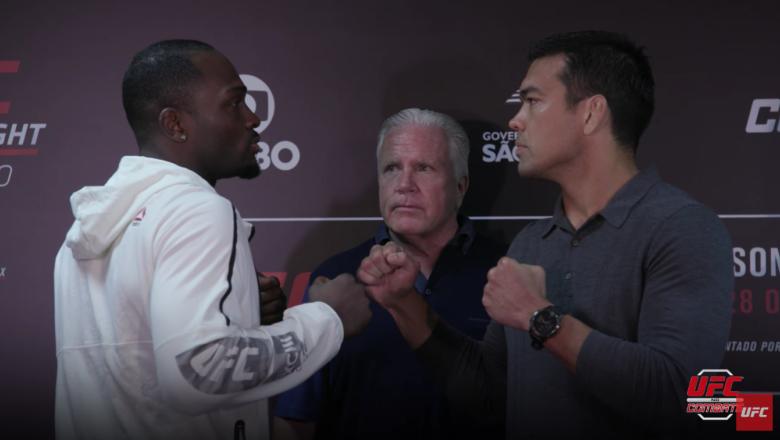 As principais estrelas do UFC SP ficaram frente a frente no Media Day do evento que acontece nesse sábado (28), no Ginásio do Ibirapuera.