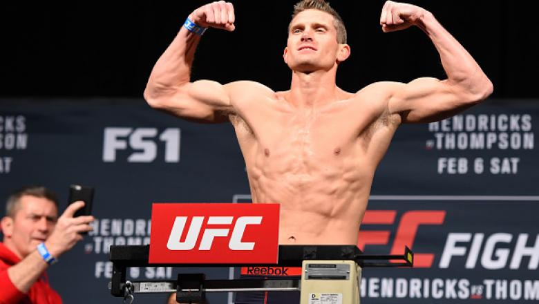 Stephen Thompson durante a pesagem do UFC Fight Night: Hendricks x Thompson