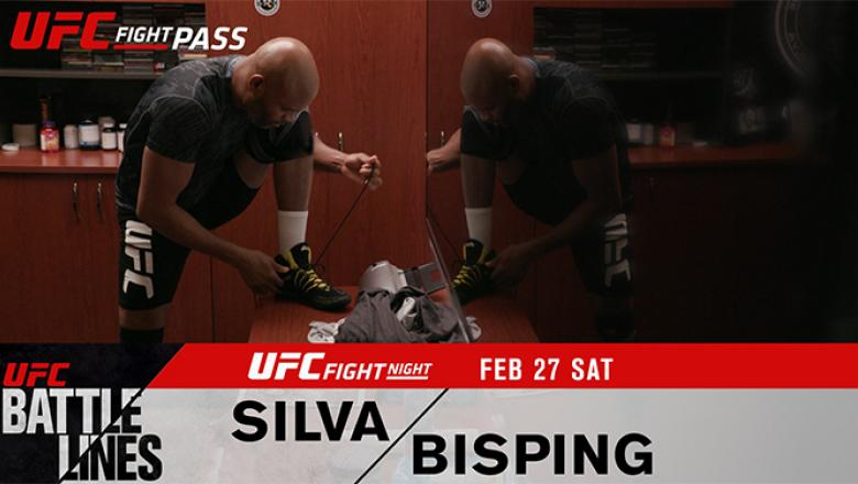 UFC Battle Lines: Anderson Silva vs Michael Bisping texted graphic