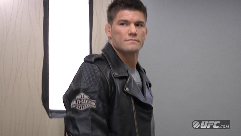 Josh Thomson Poses during Harley-Davidson Photo Shoot