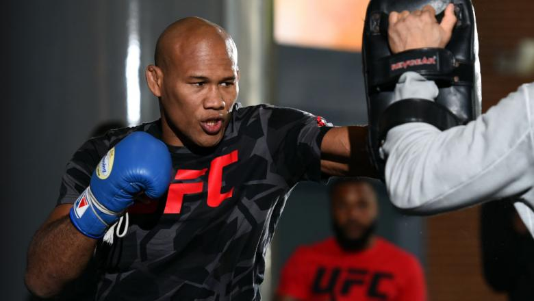 CHARLOTTE, NC - JANUARY 25:  Ronaldo Souza of Brazil holds an open workout for fans and media at the Spectrum Center on January 25, 2018 in Charlotte, North Carolina. (Photo by Josh Hedges/Zuffa LLC/Zuffa LLC via Getty Images)
