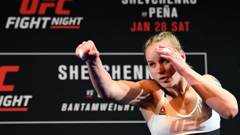 DENVER, CO - JANUARY 26:  Valentina Shevchenko of Kyrgyzstan holds an open workout for fans and media at the EXDO Event Center on January 26, 2017 in Denver, Colorado.  (Photo by Josh Hedges/Zuffa LLC/Zuffa LLC via Getty Images)
