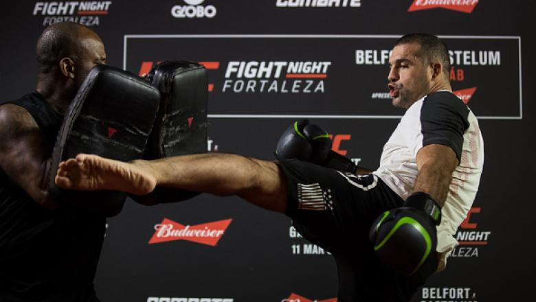 FORTALEZA, BRAZIL - MARCH 08:  Light heavyweight contender Mauricio 'Shogun' Rua of Brazil holds an open training session at Iguatemi Shopping on March 08, 2017 in Fortaleza, Brazil. (Photo by Buda Mendes/Zuffa LLC/Zuffa LLC via Getty Images)