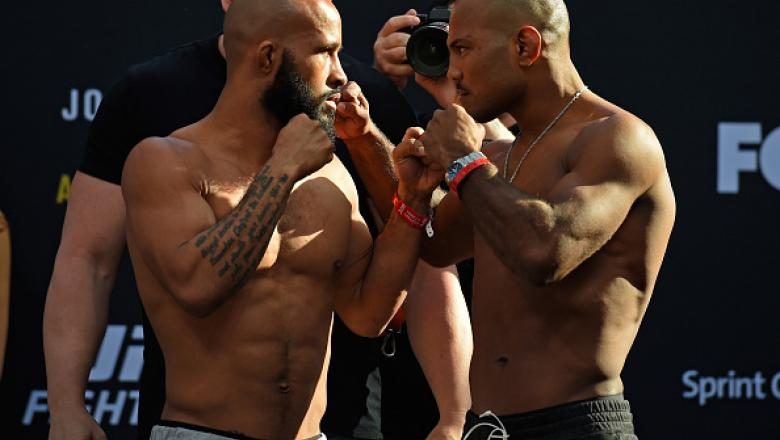 Demetrious Johnson Wilson Reis weigh in