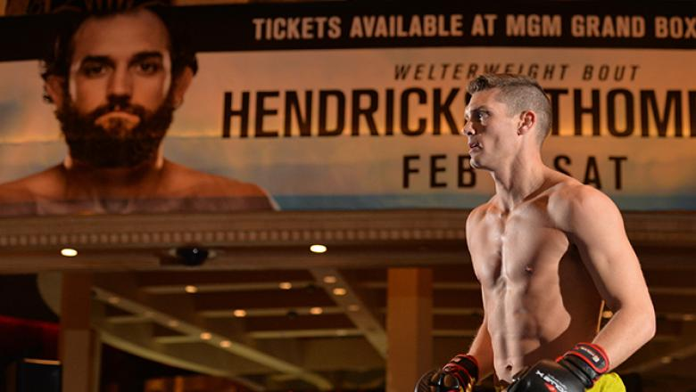 FEBRUARY 04: Stephen Thompson holds an open training session for fans and media at the MGM Grand Hotel/Casino on February 4, 2016 in Las Vegas Nevada. (Photo by Brandon Magnus/Zuffa LLC/Zuffa LLC via Getty Images)