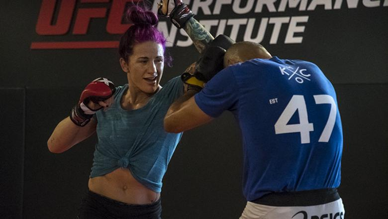 LAS VEGAS 5/18/18 - Gina Mazany training at the UFC Performance Institute for her fight at UFC FIGHT NIGHT THOMPSON VS TILL on 5/27/18 in Liverpool. (Photo credit: Juan Cardenas)