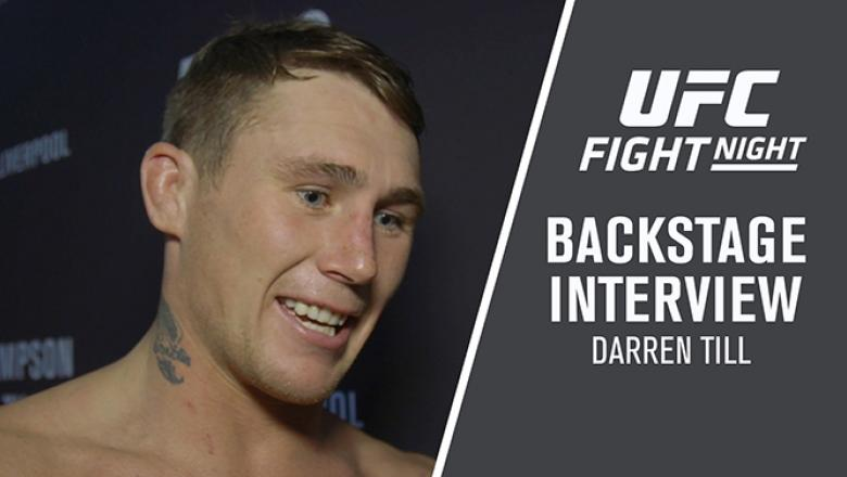 Darren Till backstage after his Fight Night Liverpool victory.