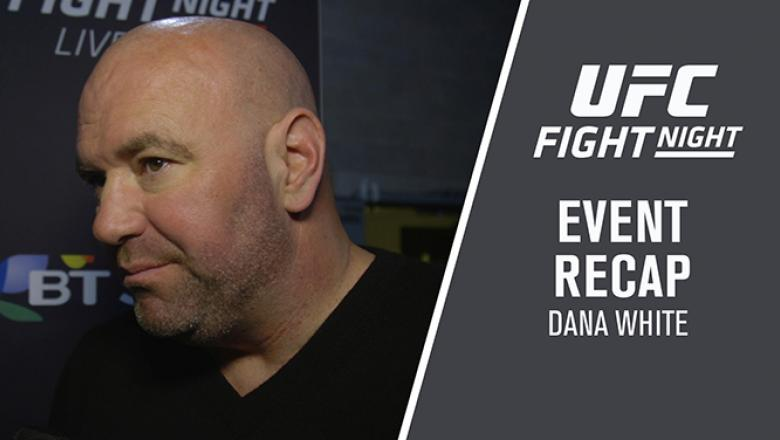 Dana White backstage after Fight Night Liverpool