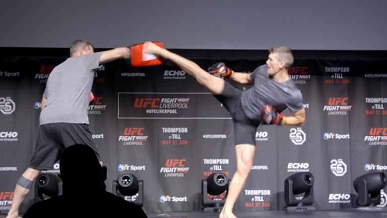 "Stephen ""Wonderboy"" Thompson at UFC Fight Night Liverpool Open Workouts"