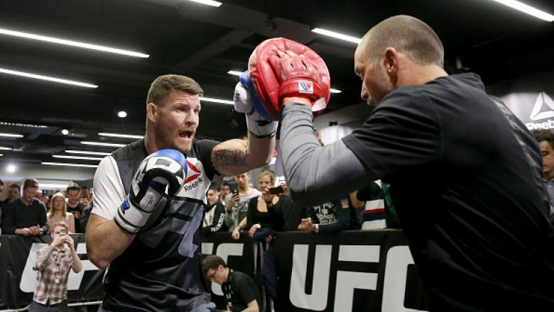 LONDON, ENGLAND - FEBRUARY 24:  Michael Bisping during the UFC Fight Night Open Workouts at JD Sports on February 24, 2016 in London, England.  (Photo by Scott Heavey/Zuffa LLC/Zuffa LLC via Getty Images)