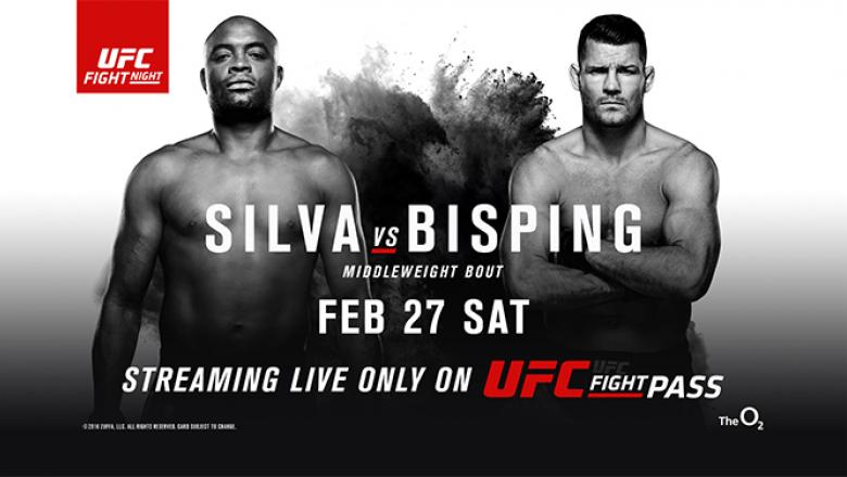 Anderson Silva Michael Bisping streaming live only on UFC Fight Pass