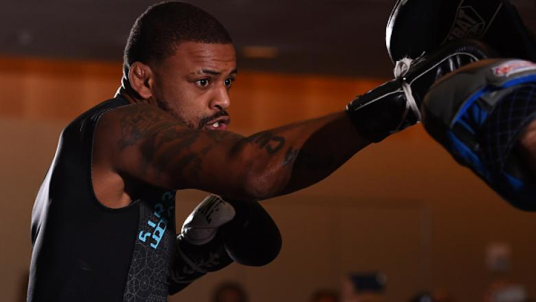 ORLANDO, FL - DECEMBER 17:   Michael Johnson works out for fans and media at the Hyatt Regency Orlando on December 17, 2015 in Orlando, Florida. (Photo by Josh Hedges/Zuffa LLC/Zuffa LLC via Getty Images)