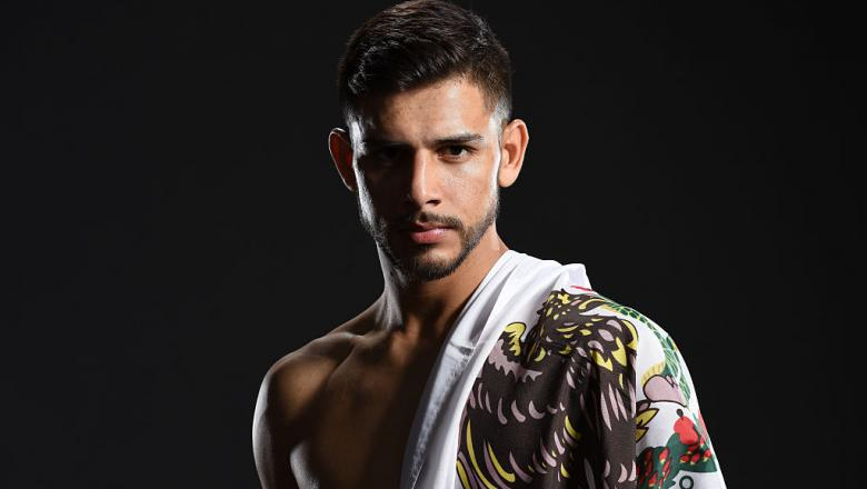 LAS VEGAS, NV - APRIL 23:  Yair Rodriguez of Mexico poses for a portrait backstage during the UFC 197 event inside MGM Grand Garden Arena on April 23, 2016 in Las Vegas, Nevada.  (Photo by Mike Roach/Zuffa LLC/Zuffa LLC via Getty Images)